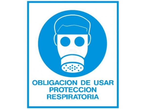 CARTEL DE SEGURIDAD PROTECCION RESPIRATORIA
